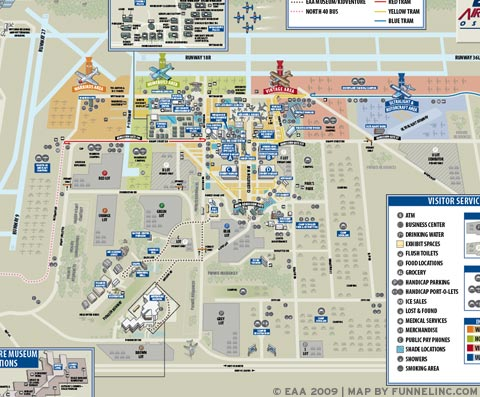 FUNNEL INCORPORATED WORK MAP FOR EVENTS EAA AIRVENTURE